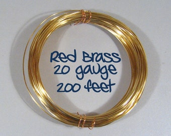 20ga 200ft DS Red Brass Wire