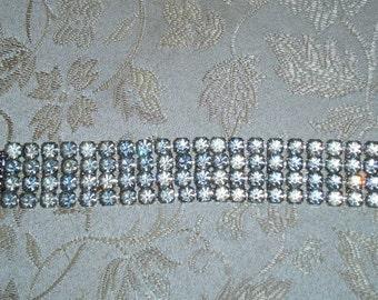 Brilliant Four Row Rhinestone Bracelet