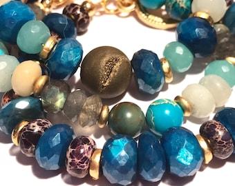Gemstone Bracelets - Gemstone Stack Bracelets - Stack Bracelets - Gemstone Bracelets for Stacking & Layering - Gift for her