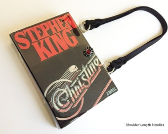 Christine Recycled Book Purse - Stephen King Book Clutch - Horror Book Cover Handbag - Gothic Bookish Accessory - 1980s Gift