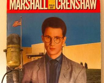 "ON SALE Marshall Crenshaw Vinyl Record Album LP 1983 Detroit Light Rock and Roll Nerd Geekout Pop ""Field Day"" (1983 Wb w/""Whenever You're On"