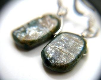 Blue Kyanite Sterling Silver Earrings . Kyanite Jewelry . Mermaid Tears Earrings . Natural Gemstone Drop Earrings Sterling Silver