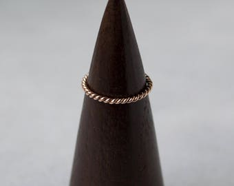 Twisted Band in 14kt Rose Gold