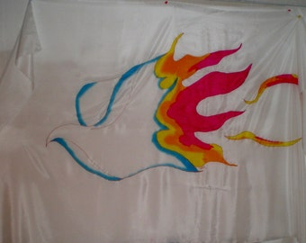 "Hand painted silk flag 45"" x 72"""