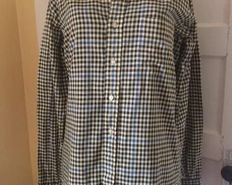 Retro Checked Plaid Shirt Tall Medium Harry's King Size Clothes of Toledo
