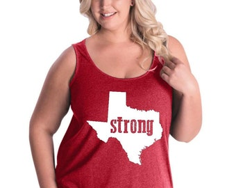 Strong Texas   Women Curvy Plus Size Tank Tops