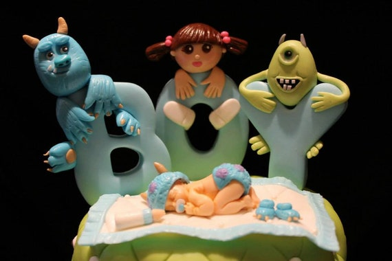 Great Monsters Baby Shower Cake Topper Set