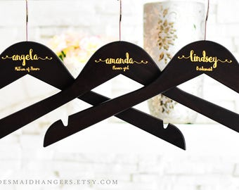 Bridal Hanger, Personalized Dress Hanger For Bridesmaid, Bridesmaid Hanger, Bridesmaid Proposal Hanger, Custom Wedding Dress Hanger H03