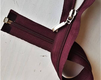 Burgundy classic or Reversible mesh Nylon 6 custom Separable zipper MAX 100cm