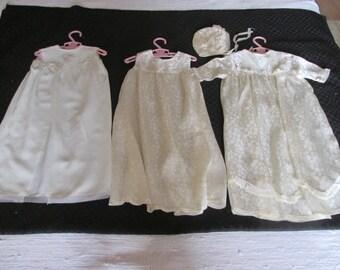 Robes  Baptème bébé ancien  / Old Set of baptism