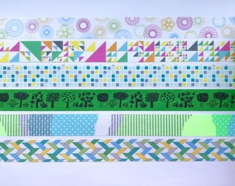 "MT Cool Washi Tape 24"" Sample Set #3 - Bobbins - MT Japanese Washi Tape"