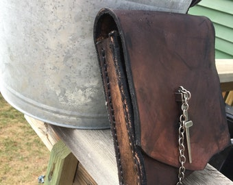 Hand made leather sporran