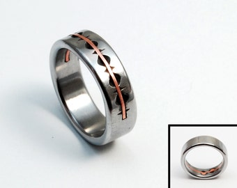Cut Edges iron and copper ring
