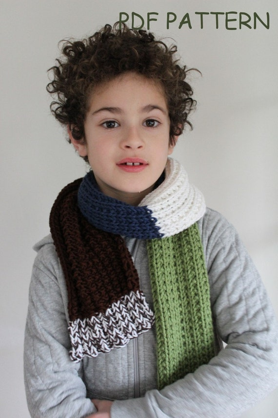 KNITTING PATTERN Ben\'s Scarf knitting pattern PDF
