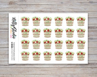 CSA Pick-up Stickers | Community Supported Agriculture Stickers | Planner Stickers | The Nifty Studio [114]
