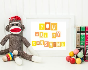 You Are My Sunshine Nursery Decor Gender Neutral Print