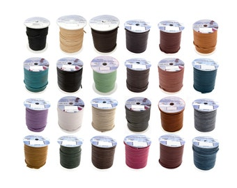 2mm Genuine Leather Cord - 24 Colors!