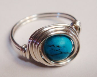 Sterling Silver Rings for Women  Silver Ring  Turquoise Ring  Turquoise Jewelry  December Birthday