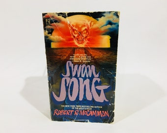 Vintage Horror Book Swan Song by Robert McCammon 1987 First Edition Paperback