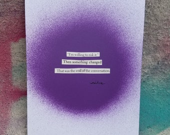 collage poem - wall art - original poetry - mixed media artwork - something changed