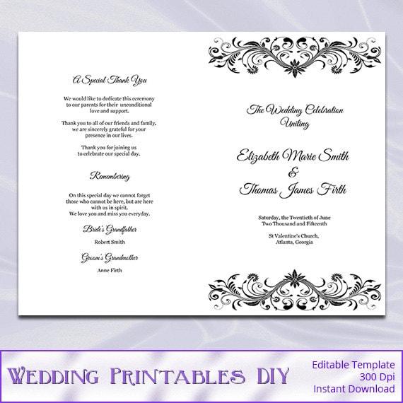 wedding program booklet template free juve cenitdelacabrera co