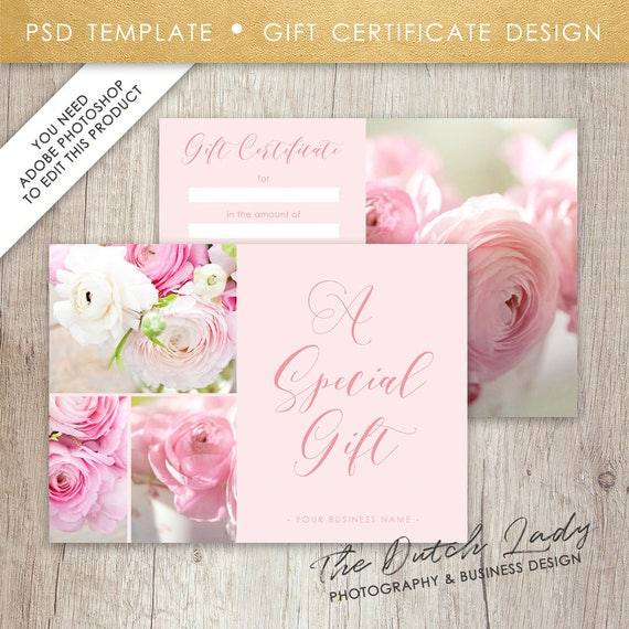 Photography gift certificate template photo gift card yadclub Image collections