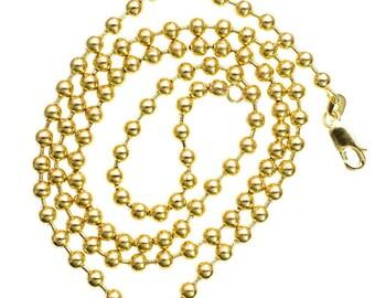 """Solide 30"""" 14K geel gouden bal keten 4.00 MM"""