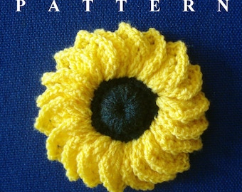 Crochet Sunflower pattern, sunflower crochet pattern, crochet sunflower, sunflower pattern PDF, sunflower crochet PDF OlgaAndrewDesigns026