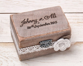 Wedding Ring Box Ring Bearer Box Ring Box Ring Holder Rustic Wedding