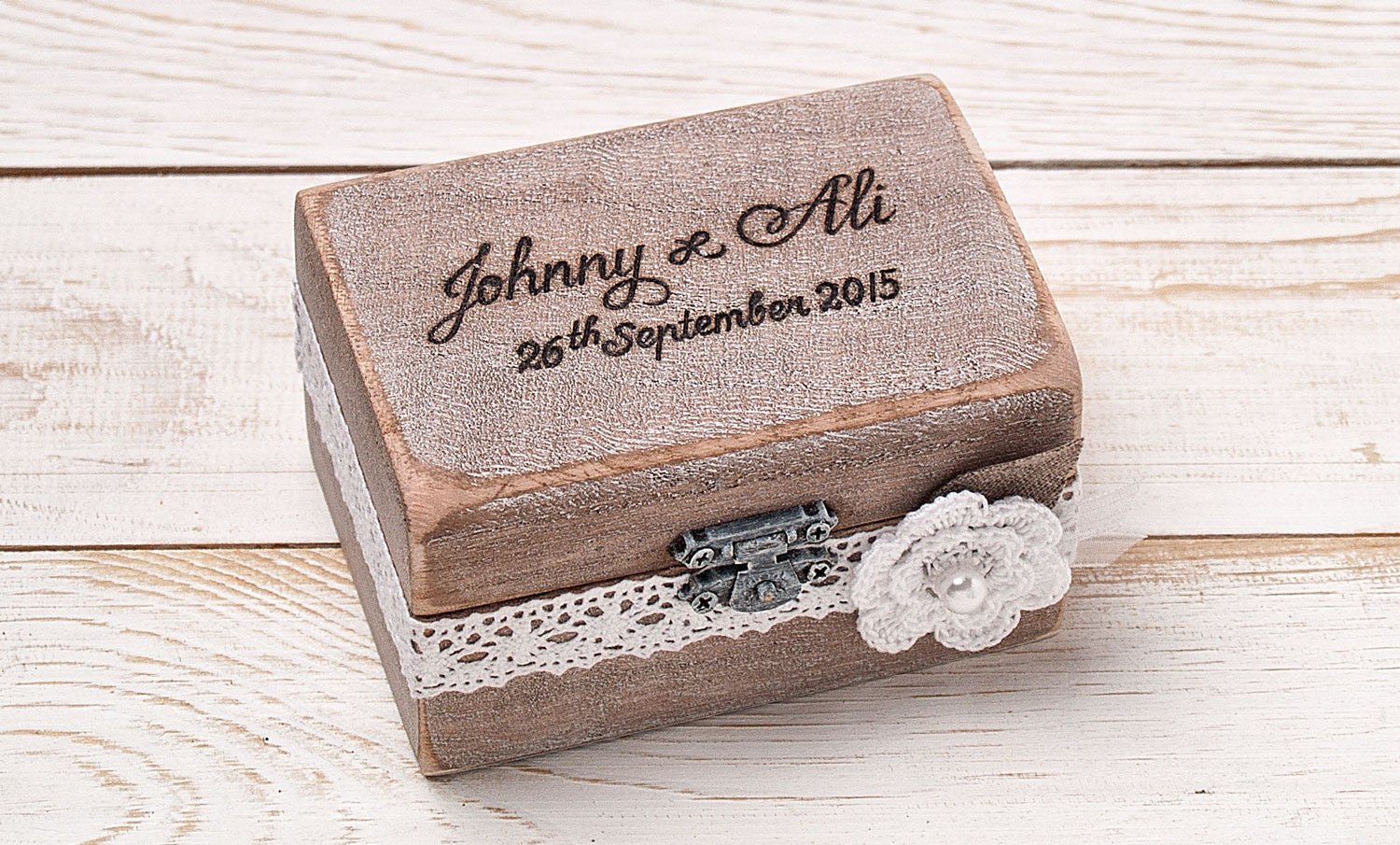 Wedding ring box ring bearer box ring box ring holder rustic for Wedding ring holder box