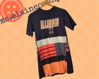 University of Illinois Women's Shirt, Illini, Tailgate Clothes, Alumni, Swing Shirt, Graduation Gift, Fighting Illini, Illinois