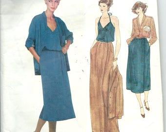 Vogue American Designer  Sewing Pattern 1993 KASPER Shirt, Top, Skirt, Size 16