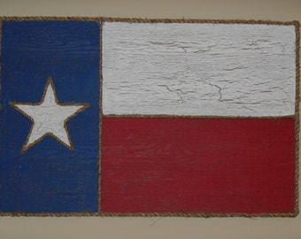 Texas state flag wood