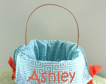 Seasonal Easter Basket Liner - Aqua Blue