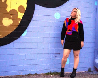 Vintage Sweater - Loud, Bold, and Bright