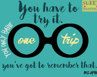 Iris Apfel Quote - Blue and Yellow