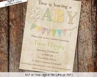 gender reveal invitation couples baby shower coed sprinkle diaper wipes sip see neutral rustic twins brunch girl gay | 145 katiedid designs