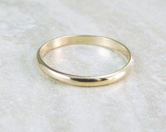 Gold Stacking Ring / Gold Filled Wedding Band / Gold Filled Skinny Ring