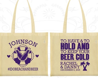 To Have and To Hold Bags, Cheap Gift Bags, Cruise Wedding Bags, Tropical Wedding, Beach Bags, Custom Tote (441)