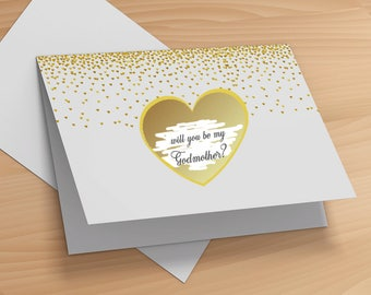 Will You Be My Godparents Card- Will You be My Godmother Card- Will You Be My Godfather Card- Godmother Greeting Card- Card for Godmother