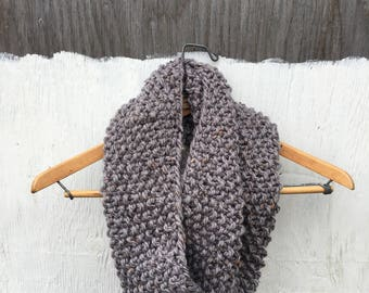 LUCY Cowl in Tweed | Cozy | Chunky Knit Scarf