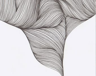 Original Artwork - Line Drawing - Waves #1