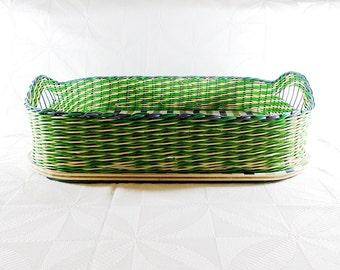 SALE Vintage Raffia / Basket Tray