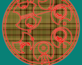 """Circular Gallifreyan Print - 8x10 - Seventh Doctor - """"Time will tell, it always does"""""""