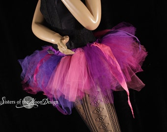 Ready to ship tutu Trashy skirt poofy pink purple pixie princess dance costume party club rave race run event - XSmall - Sisters of the Moon