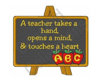 Teacher Blackboard Machine Embroidery Design