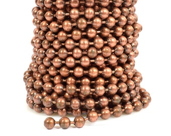 2ft 6.4mm Ball Chain - Antique Copper - CH99-AC