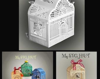 3D Birdcage and favor set SVG DIGITAL download