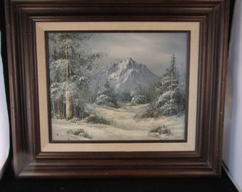 Vintage original oil painting on canvas signed by the artist