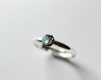Moon ring,Crescent Moon Ring,raw Opal ring,Sun and moon rings,Moon phase ring,dainty ring,mint ring,gypsy rings,wiccan ring,wiccan jewelry